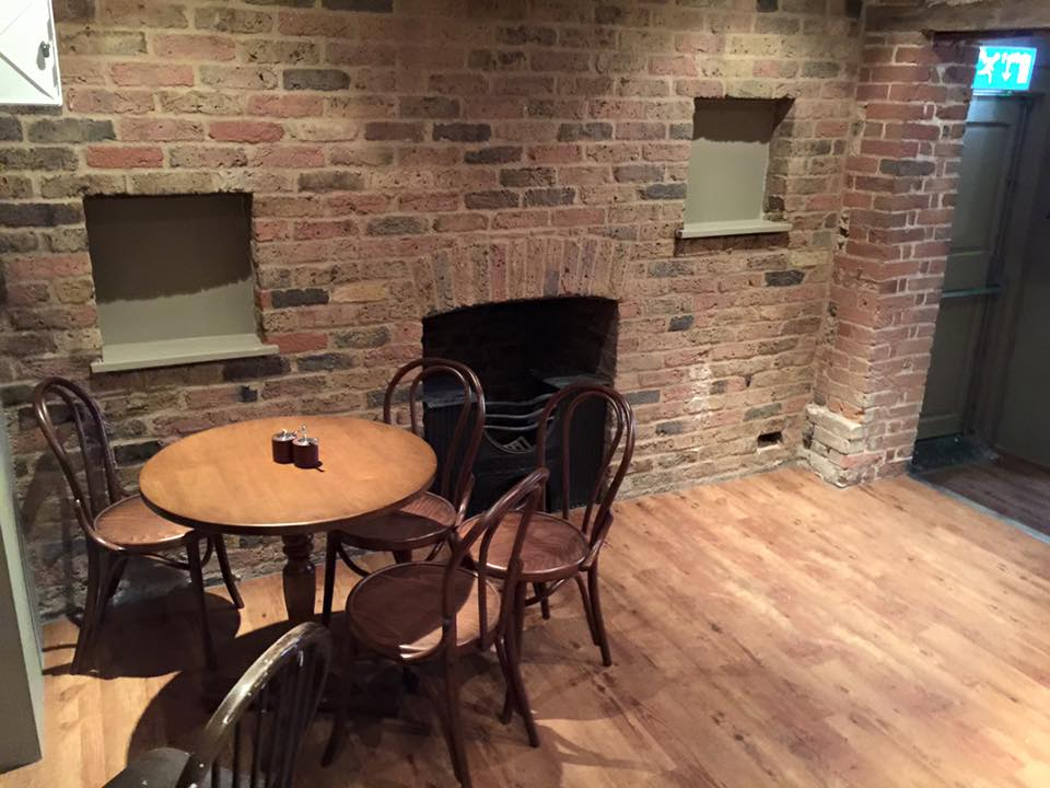 Cleaned brickwork at the Social